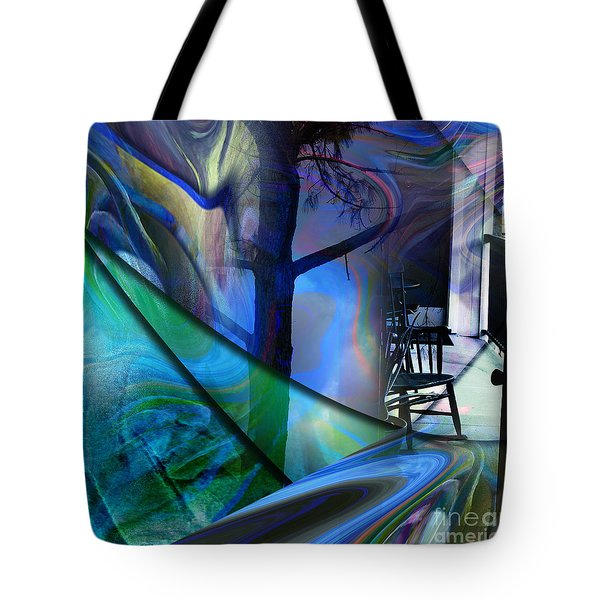 Tote Bag featuring the painting Crossing Roads by Allison Ashton