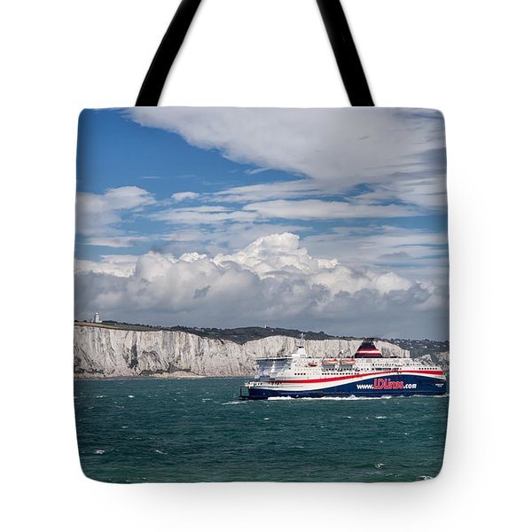 Crossing The English Channel Tote Bag by Tim Stanley