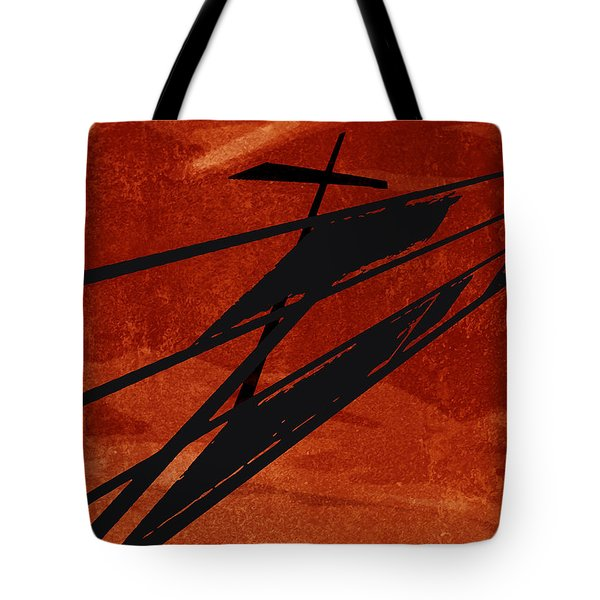 Tote Bag featuring the digital art Crossroads by Ken Walker
