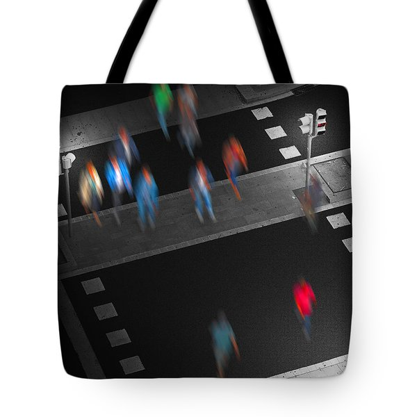 Tote Bag featuring the photograph Crosswalk by Pedro L Gili