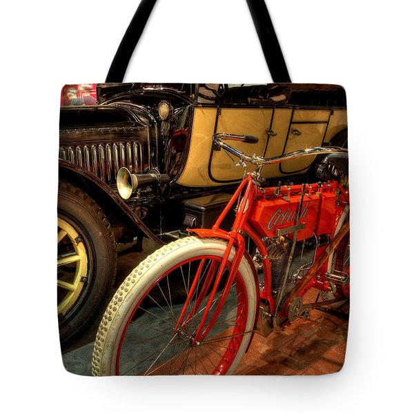 Crouch Motorcycle Tote Bag