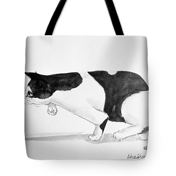 Crouching Cat Tote Bag