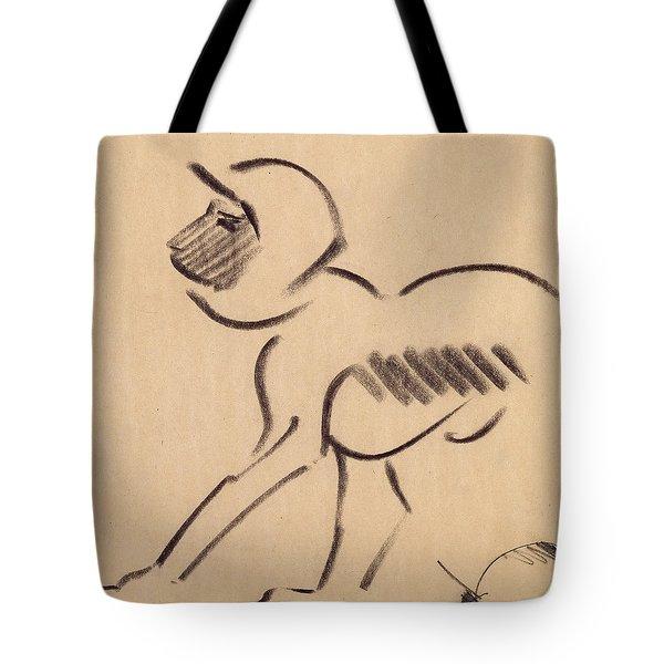 Crouching Monkey Tote Bag by Henri Gaudier-Brzeska