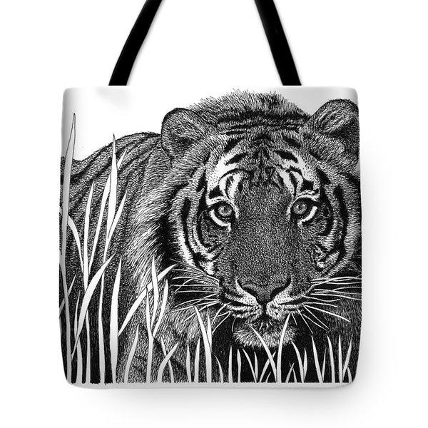 Crouching Tiger Tote Bag