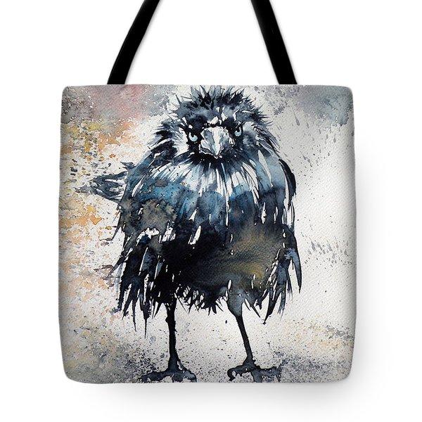 Crow After Rain Tote Bag