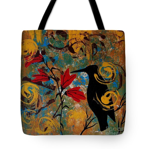 Crow Healing In The Ancient Garden Tote Bag