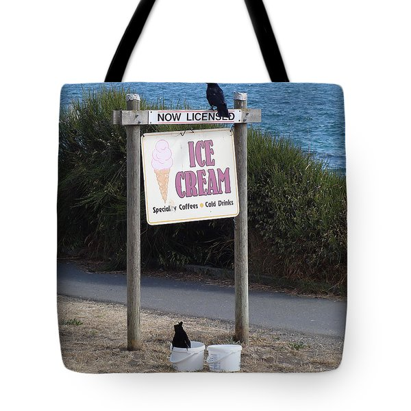 Tote Bag featuring the photograph Crow In The Bucket by Cheryl Hoyle