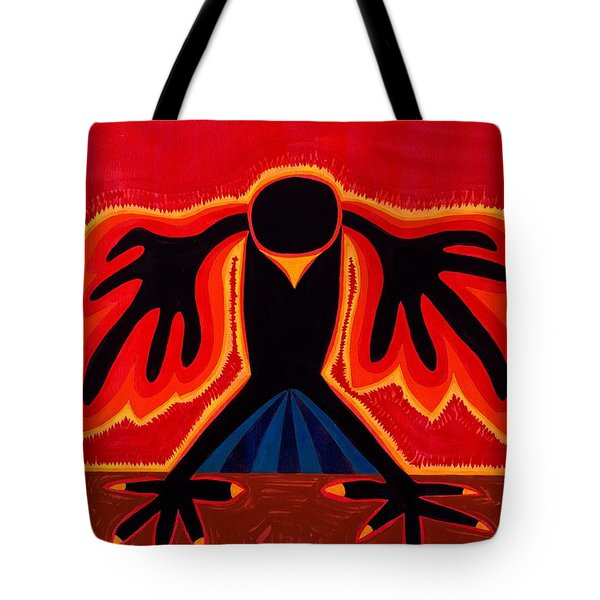 Crow Rising Original Painting Tote Bag