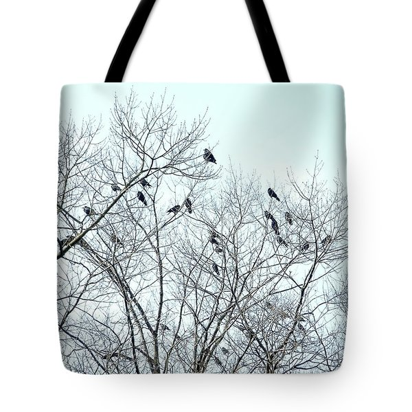 Crow Trees Tote Bag