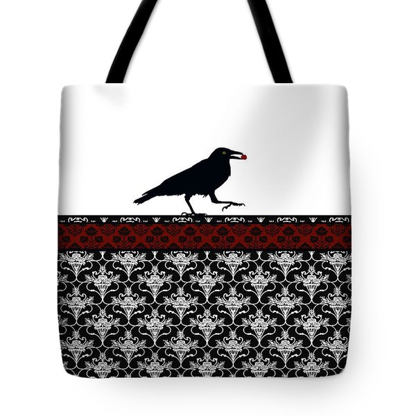 Crow With Paisly Tote Bag