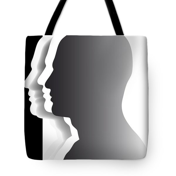 Crowd - Heads - Teamwork Tote Bag by Michal Boubin