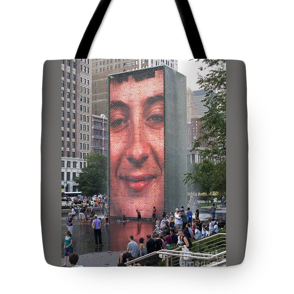 Crowd Watching Tote Bag by Ann Horn