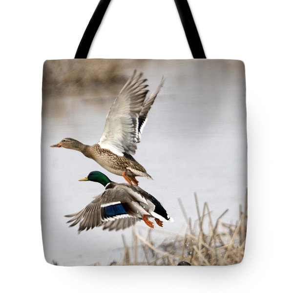 Crowded Flight Pattern Tote Bag