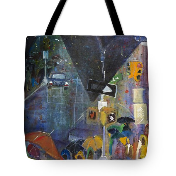 Crowded Intersection Tote Bag