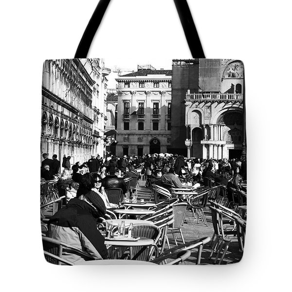 Crowded St. Mark's Square Tote Bag