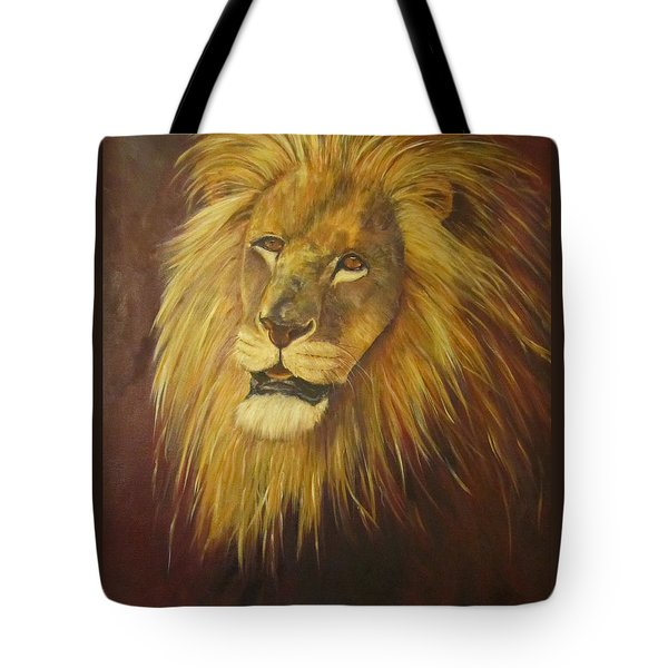 Crown Of Courage,lion Tote Bag