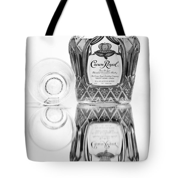 Crown Royal Black And White Tote Bag