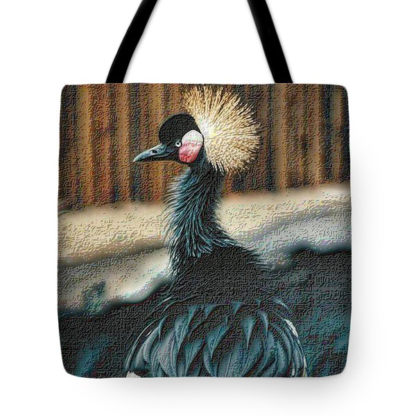 Crowned Crested Crane Tote Bag