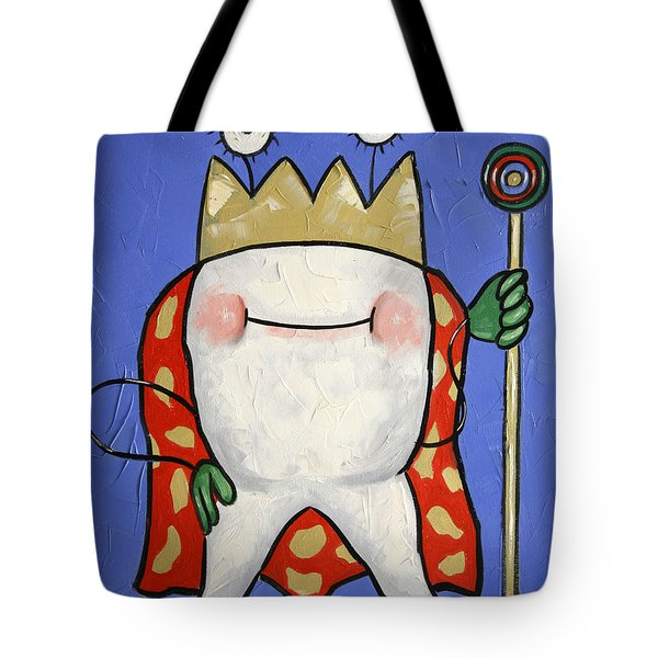 Crowned Tooth Tote Bag by Anthony Falbo
