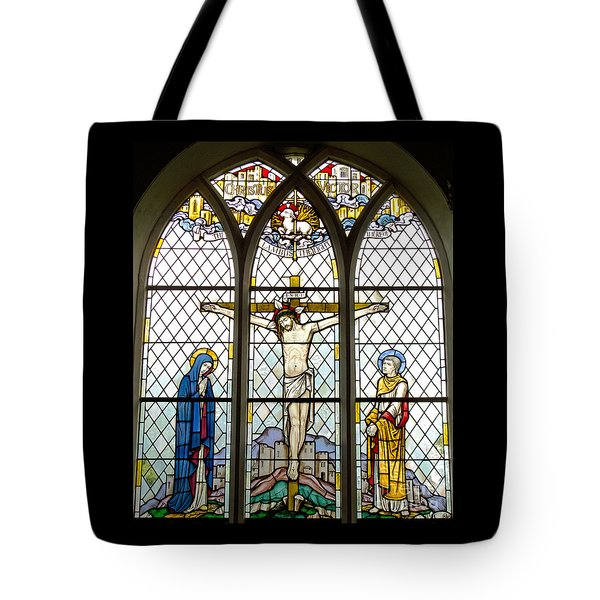 Crucified Tote Bag by Ann Horn
