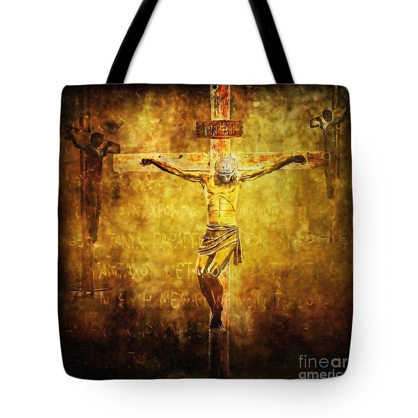 Crucified Via Dolorosa 12 Tote Bag