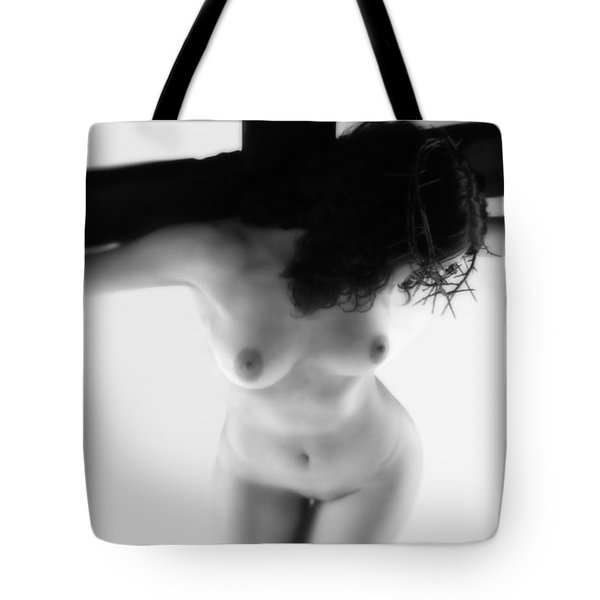 Crucified Woman Highlight I Tote Bag by Ramon Martinez
