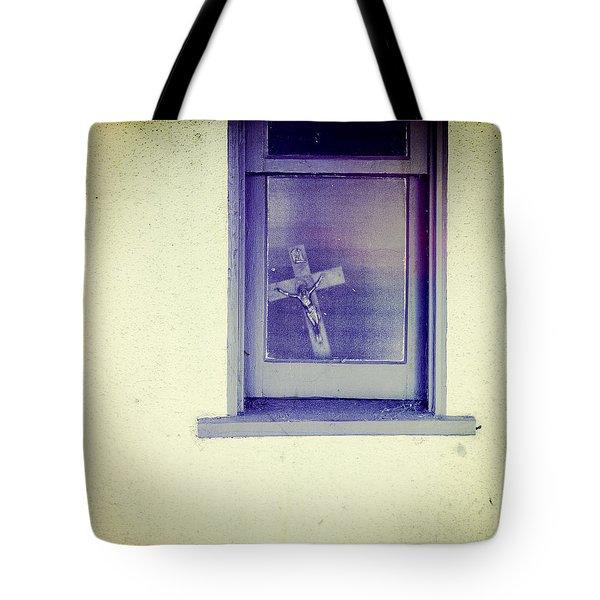 Crucifix In A Window Tote Bag