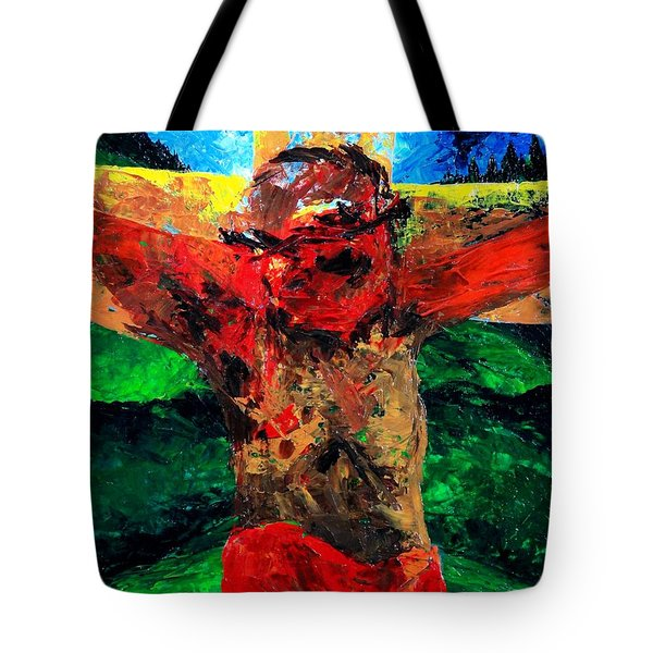 Crucifixion   It Is Finished Tote Bag