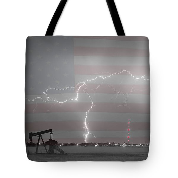 Crude Oil And Natural Gas Striking Across America Bwsc Tote Bag by James BO  Insogna