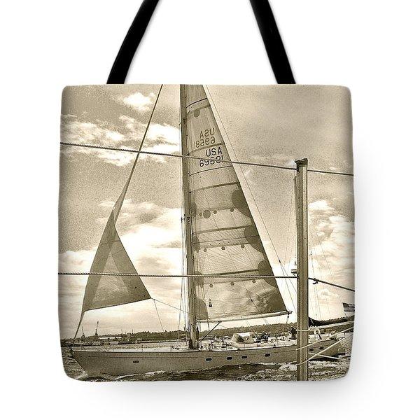 Cruise On Wind Tote Bag