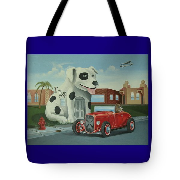 Cruisin' At The Pup Cafe Tote Bag