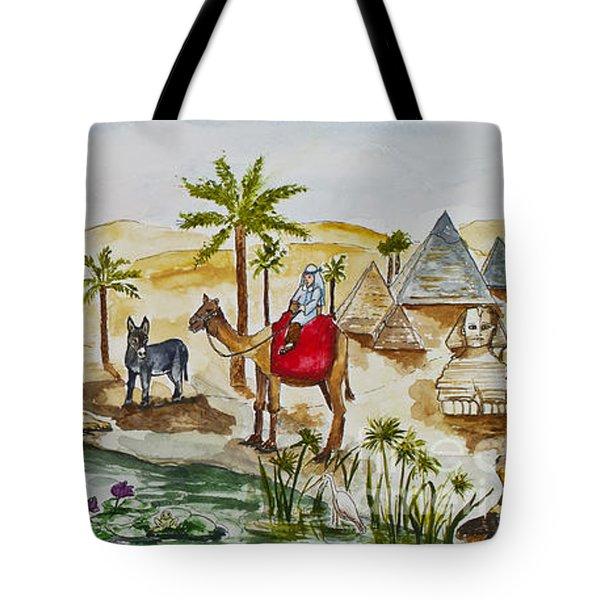 Cruising Along The Nile Tote Bag