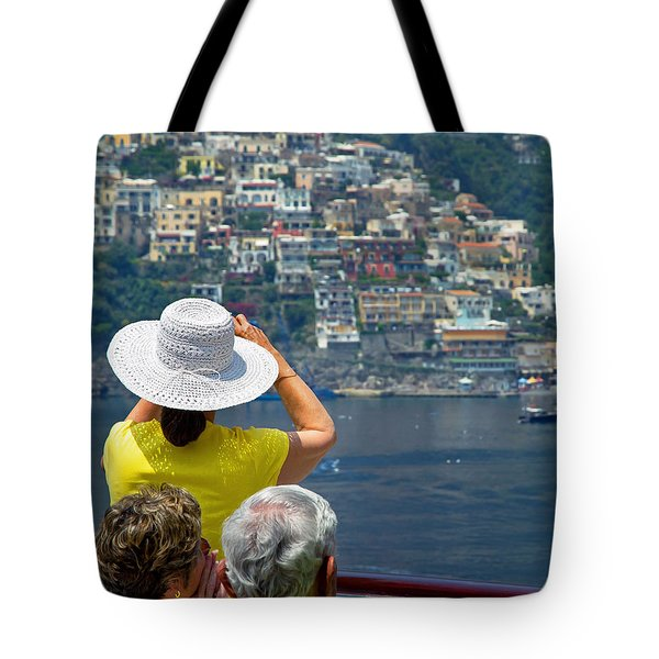 Cruising The Amalfi Coast Tote Bag by Keith Armstrong