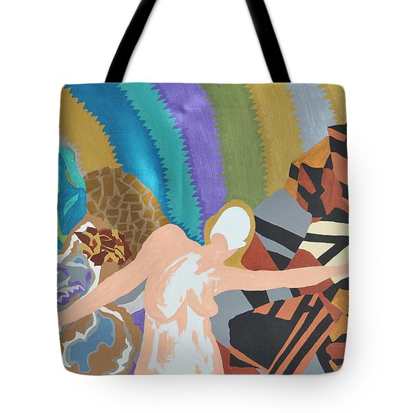 Tote Bag featuring the painting Crushed by Erika Chamberlin