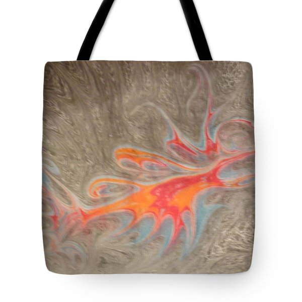 Tote Bag featuring the painting Crustacean by Mike Breau