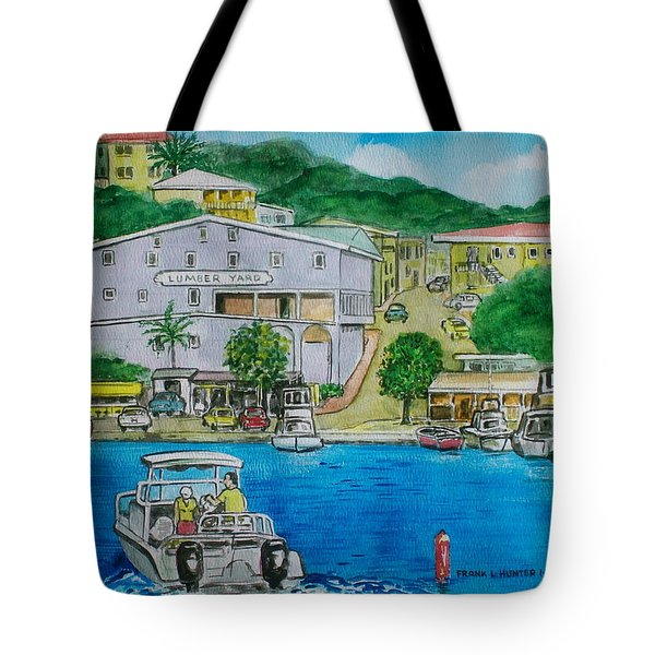 Cruz Bay St. Johns Virgin Islands Tote Bag