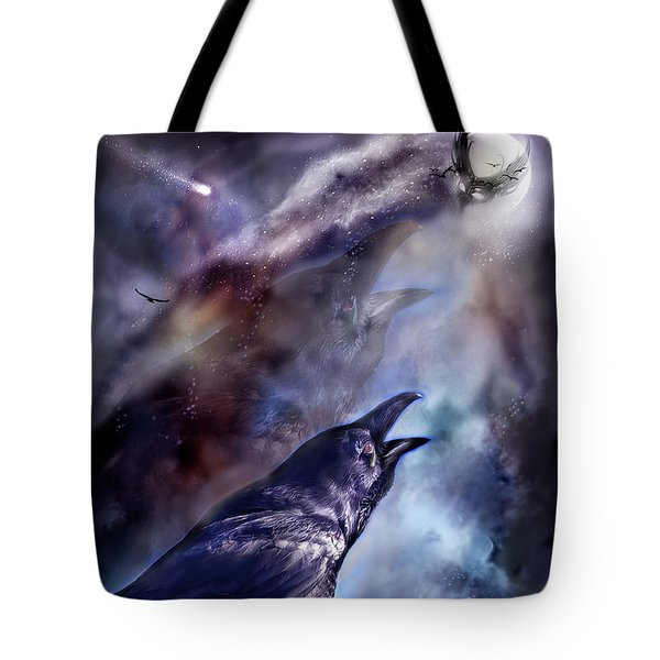 Cry Of The Raven Tote Bag by Carol Cavalaris