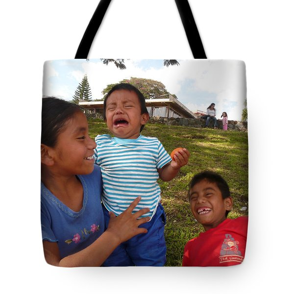 Crying And Laughing Tote Bag by Eye Browses