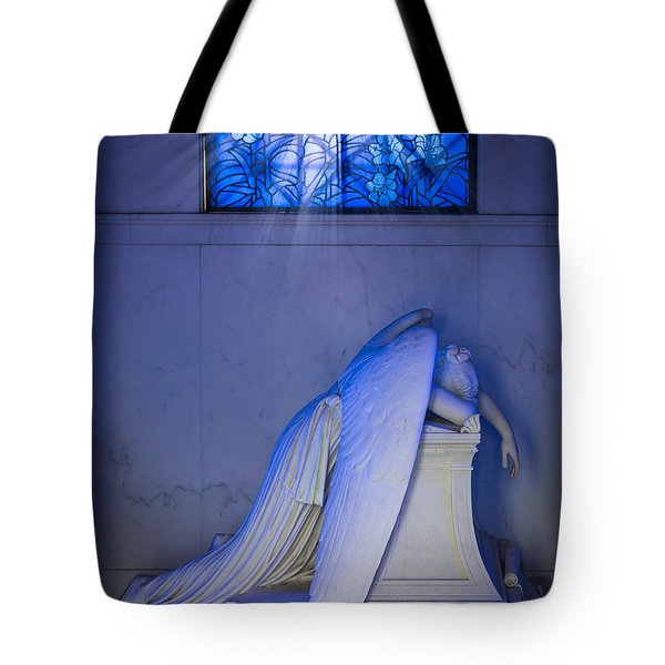 Crying Angel Tote Bag by Inge Johnsson