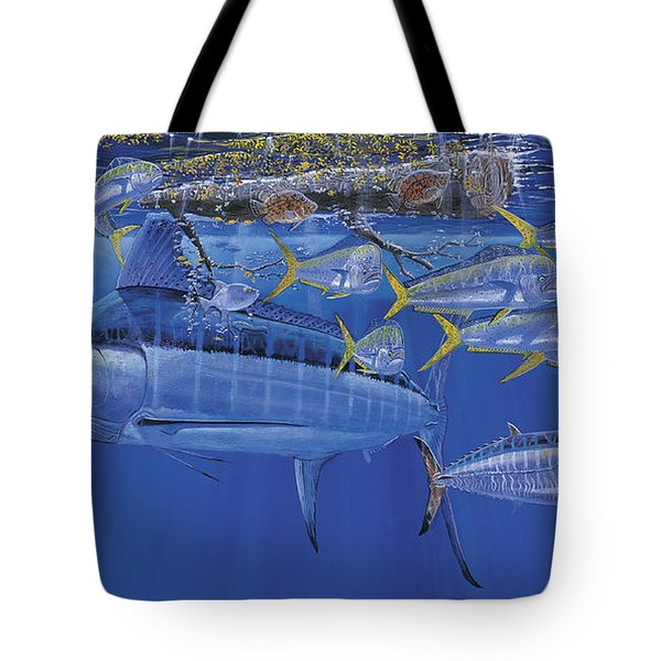 Crystal Blue Off00100 Tote Bag by Carey Chen