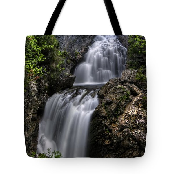 Crystal Cascade In Pinkham Notch Tote Bag