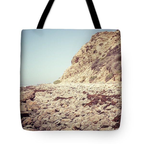 Crystal Cove State Park Cliff Picture Tote Bag by Paul Velgos