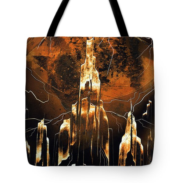 Tote Bag featuring the painting Crystal Complex by Jason Girard