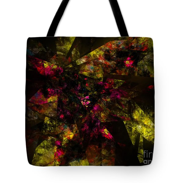 Tote Bag featuring the digital art Crystal Inspiration #1 by Olga Hamilton