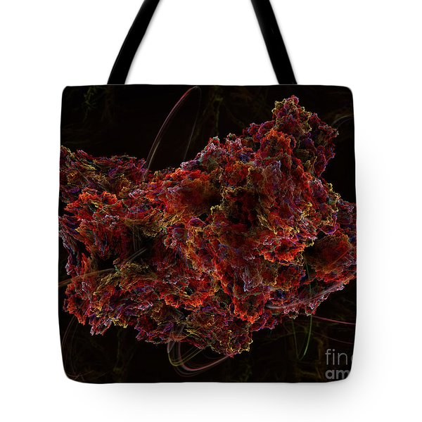 Tote Bag featuring the digital art Crystal Inspiration #2 by Olga Hamilton