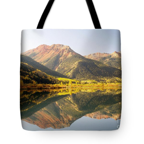 Crystal Lake And Red Mountain Tote Bag by Alex Cassels