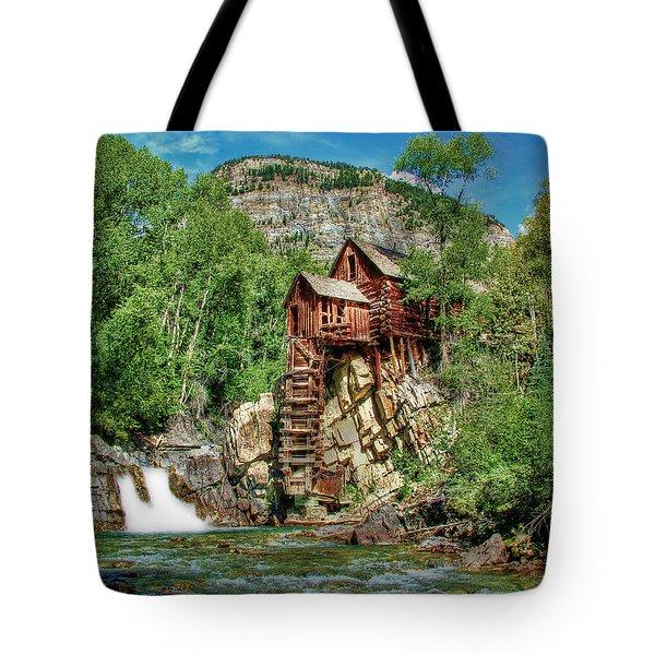 Crystal Mill Crystal Colorado Tote Bag by Ken Smith