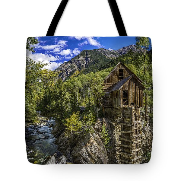Tote Bag featuring the photograph Crystal Mill by Bitter Buffalo Photography