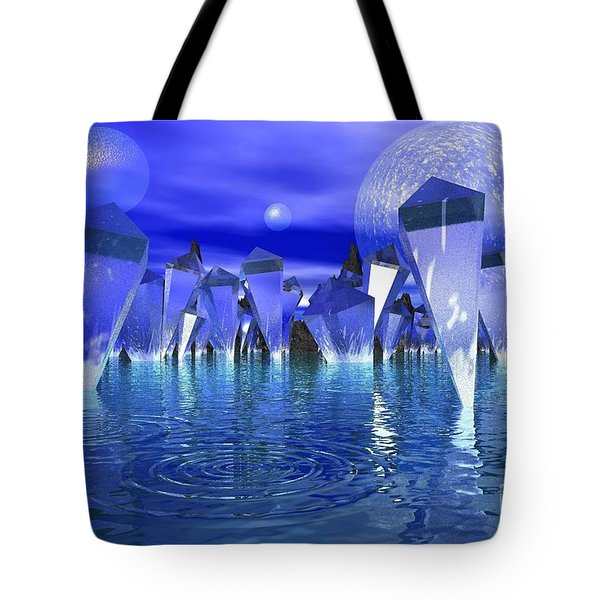 Tote Bag featuring the photograph Crystal River by Mark Blauhoefer