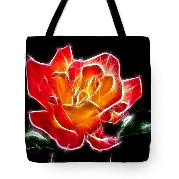 Tote Bag featuring the photograph Crystal Rose by Mariola Bitner